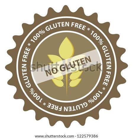 100% Gluten Free food label. EPS10.