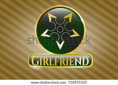 gold badge with ninja star