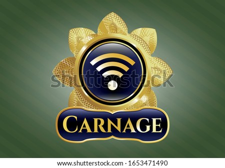 gold badge with wifi signal