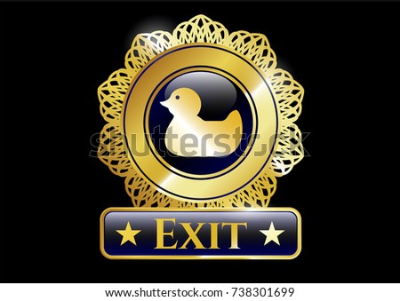 gold emblem or badge with