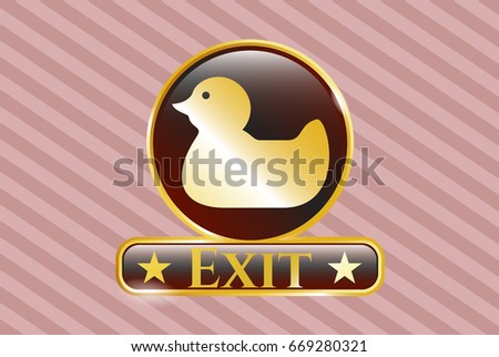 gold emblem with rubber duck