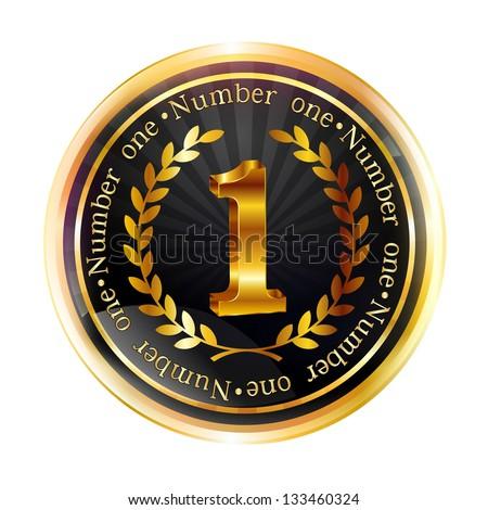 1 Gold Laurel Frame