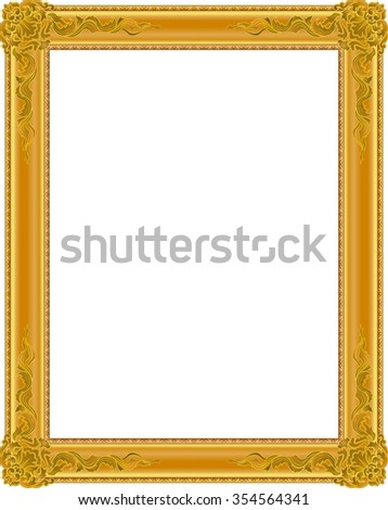 gold photo frame with corner