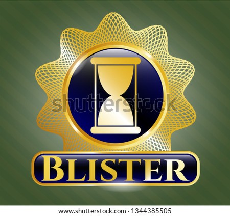 gold shiny badge with