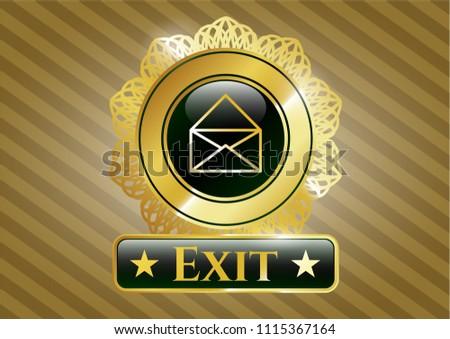 gold shiny embl shiny badge