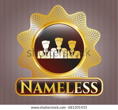 gold shiny emblem with