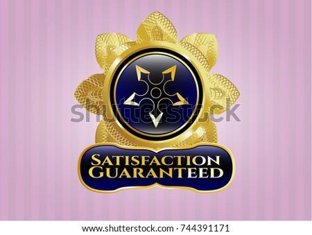 golden badge with ninja star