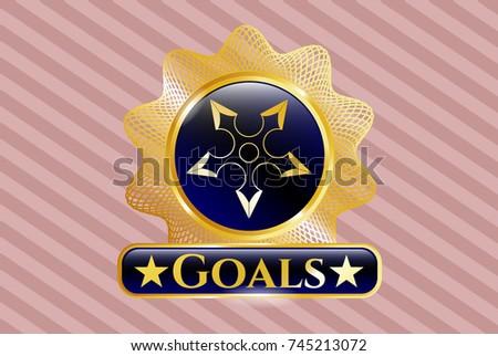 golden emblem or badge with