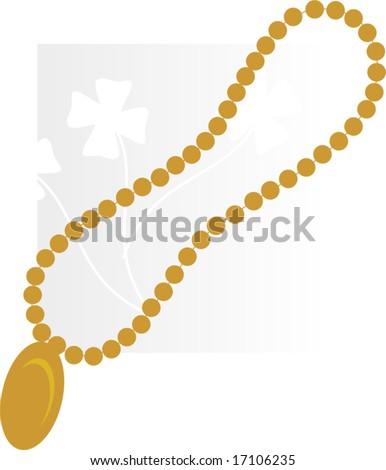 golden necklace with diamond pendant