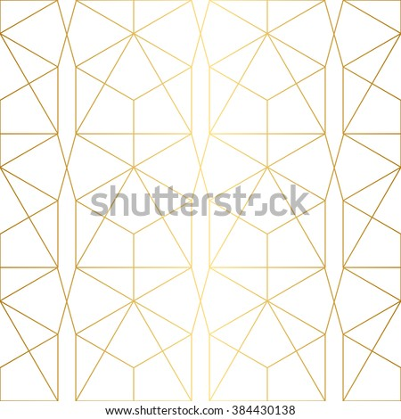 Golden texture.Seamless geometric pattern.