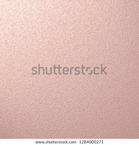 Grainy Rose Gold Vector Texture. Highlighted from the Top Shiny Distressed Pink Gold Metallic Background. Scalable Graphic. #1284000271