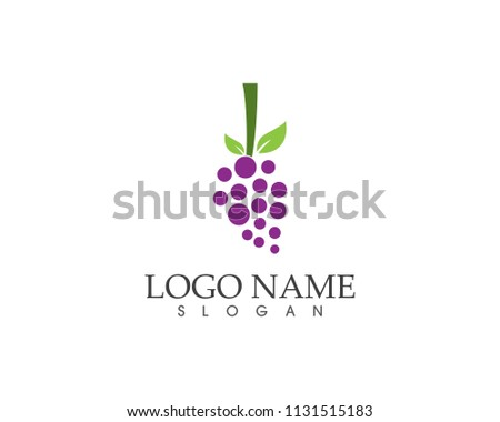 Grape with leaf icon
