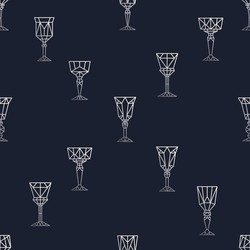 Graphic pattern with polygonal glasses. Minimalistic linear background