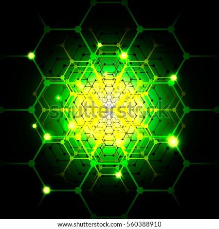 green background of futuristic