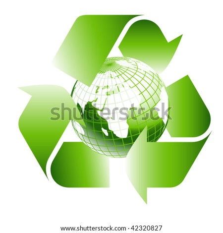 green earth inside recycle icon