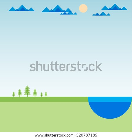 green field landscape with