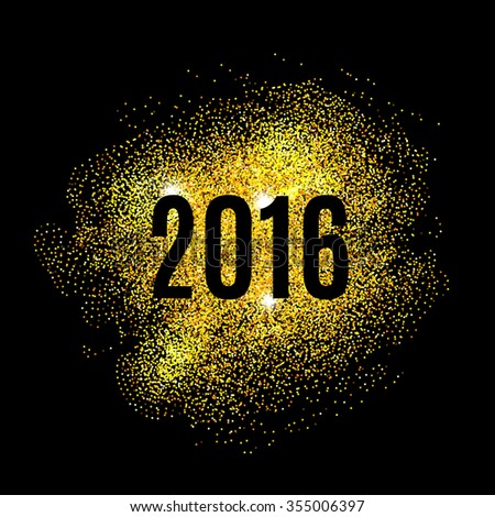 gold glitter background for new year 2017 poster abstract 2017 banner with text graphic illustration pattern ez canvas