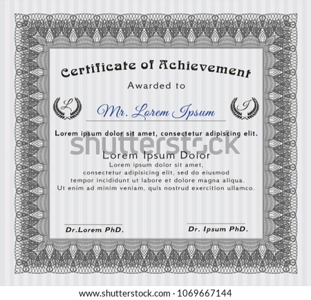 abstract colorful certificate award diploma template background phd diploma template