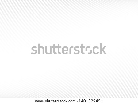 grey white waves and lines abstract background.Vector illustration. #1401529451