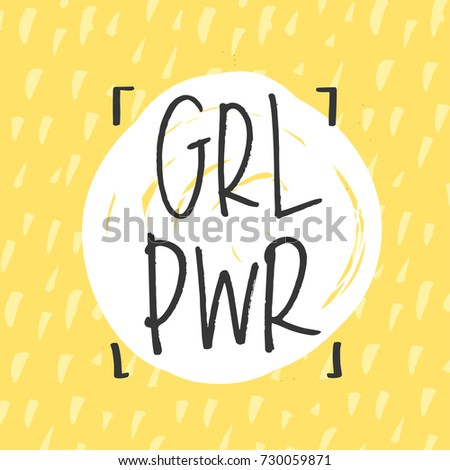 'grl pwr' girl power trendy