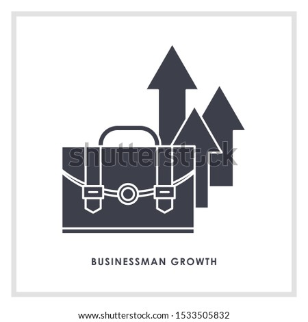 growth vector icon. growth sign on white background. growth icon for web and app