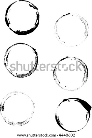 6 Grunge Cup rings - Highly Detailed vector grunge elements