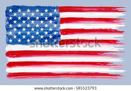 grunge flag of the united