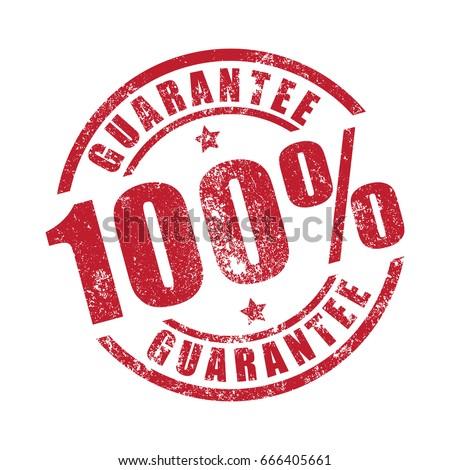 100% Guarantee grunge stamp print Stock photo ©