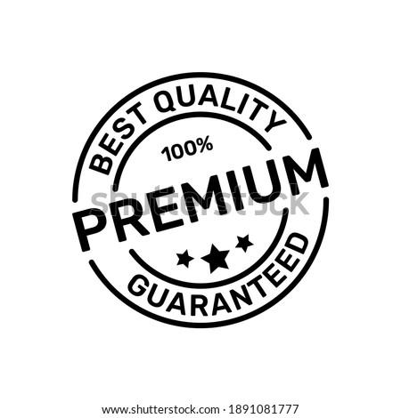 100% Guaranteed Premium Product Stamps of Best Quality Logo Design Vector ストックフォト ©