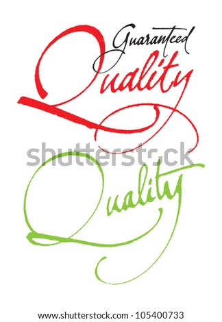 """""""Guaranteed Quality"""" original handwritten calligraphy for your logo, website or advertisement"""