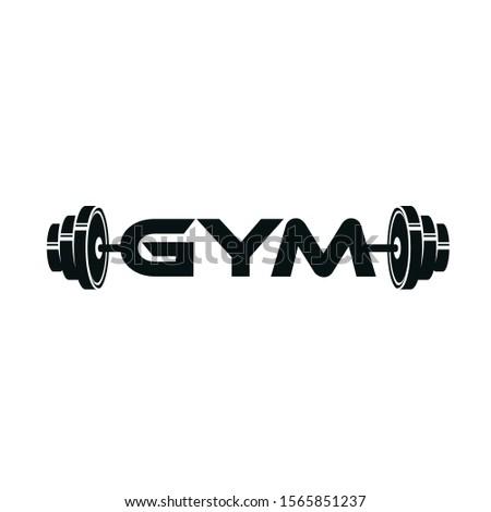 gym dan barbells Logo design