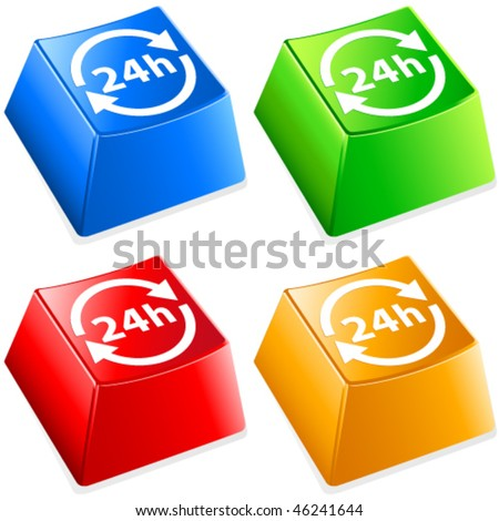 24h delivery - buttons set