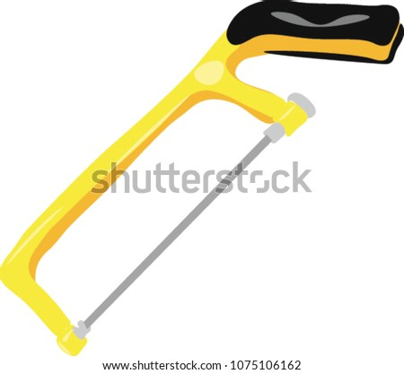hacksaw blade, hacksaw frame