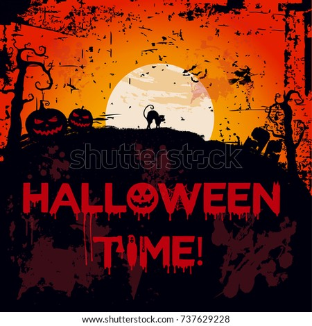halloween time vector background for posters flyers background