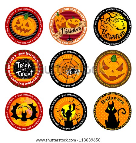 Halloween Vector banners or drink coasters.