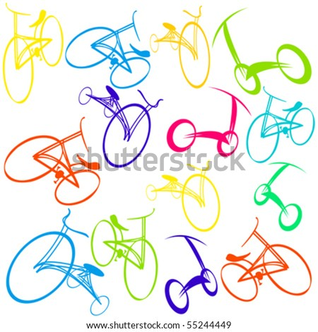 Hand drawn bicycle Doodles