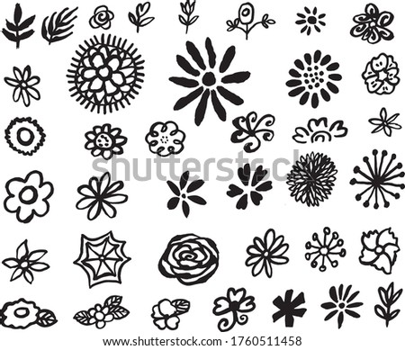 38 hand drawn doodle flower