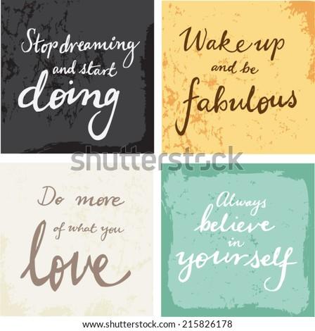 4 hand written inspirational