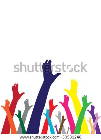 hands symbol of diversity - stock vector