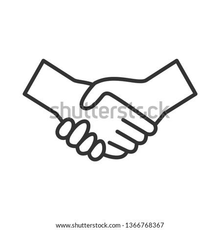 Handshake Icon. Deal or Agreement  Illustration As A Simple Vector Sign & Trendy Symbol for Design, Websites, Presentation or Application.