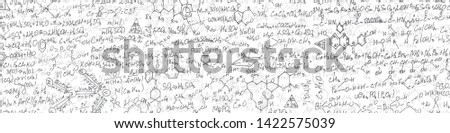 Handwritten formulas background.School background in chemistry .Letters and numbers .