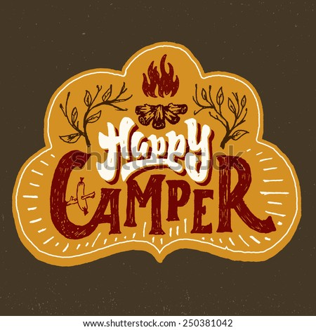 'happy camper' humorous hand