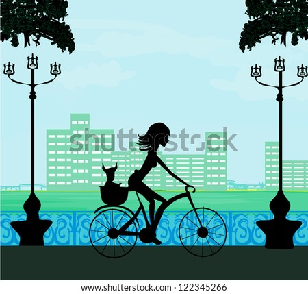 Happy Driving Bike with Cute Girl
