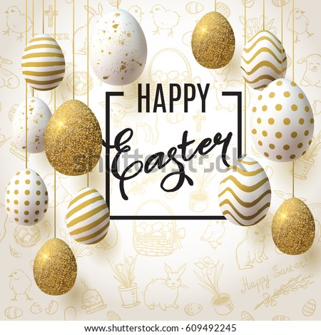 happy easter background with
