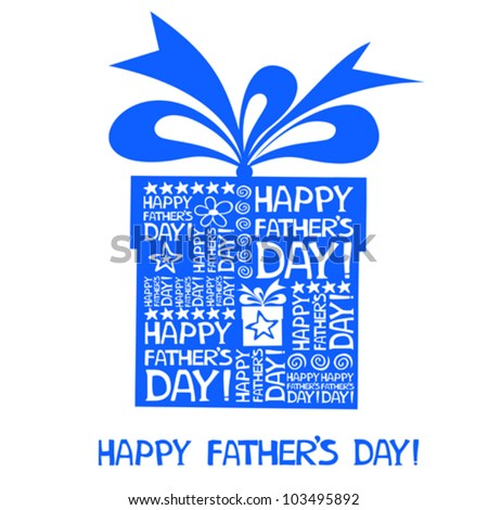 Happy Father's Day card. Vector Illustration - stock vector