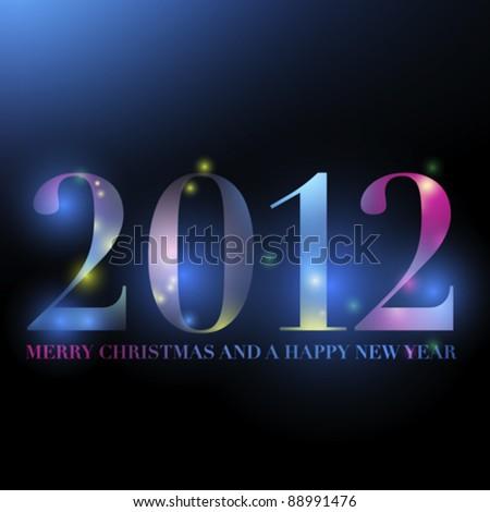 2012  happy glowing new year