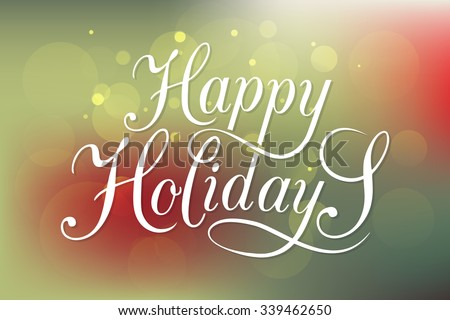 Happy holidays download free vector art stock graphics images happy holidays greeting card lettering celebration logo set typography for winter holidays calligraphic m4hsunfo