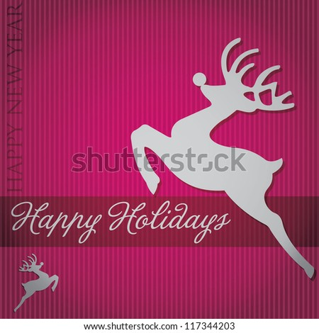 """Happy Holidays"" tree card in vector format. - stock vector"
