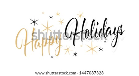 Happy holidays with stars banner