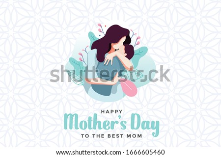 """""""Happy Mother's Day"""" a vector greeting design for the mother's day"""
